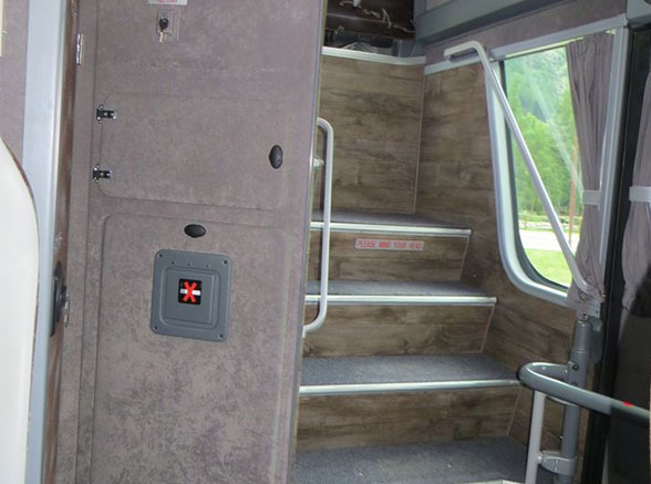 Double Decker Bus Back Stairs